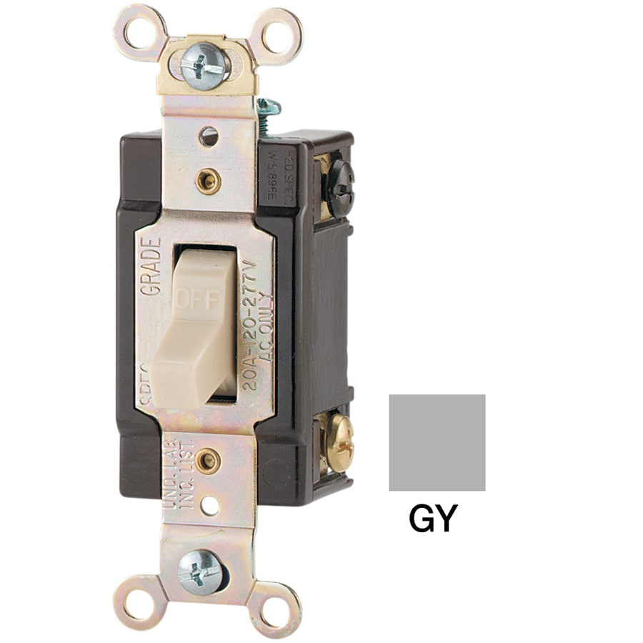 Eaton Single Pole Gray Light Switch