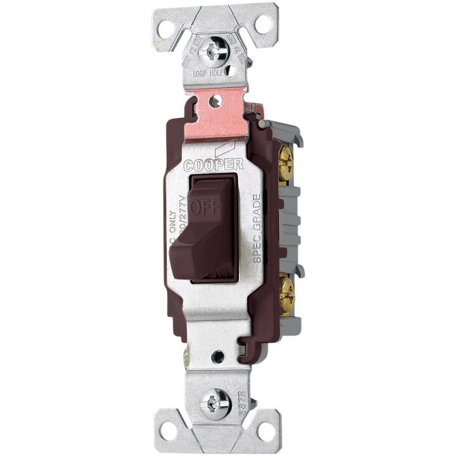 Eaton Double Pole Brown Light Switch