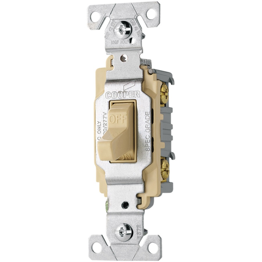 Eaton Double Pole Ivory Light Switch