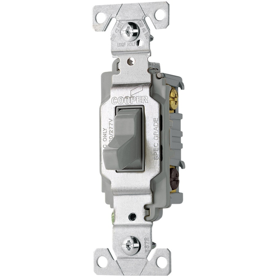 Eaton Single Pole 3-Way Gray Light Switch