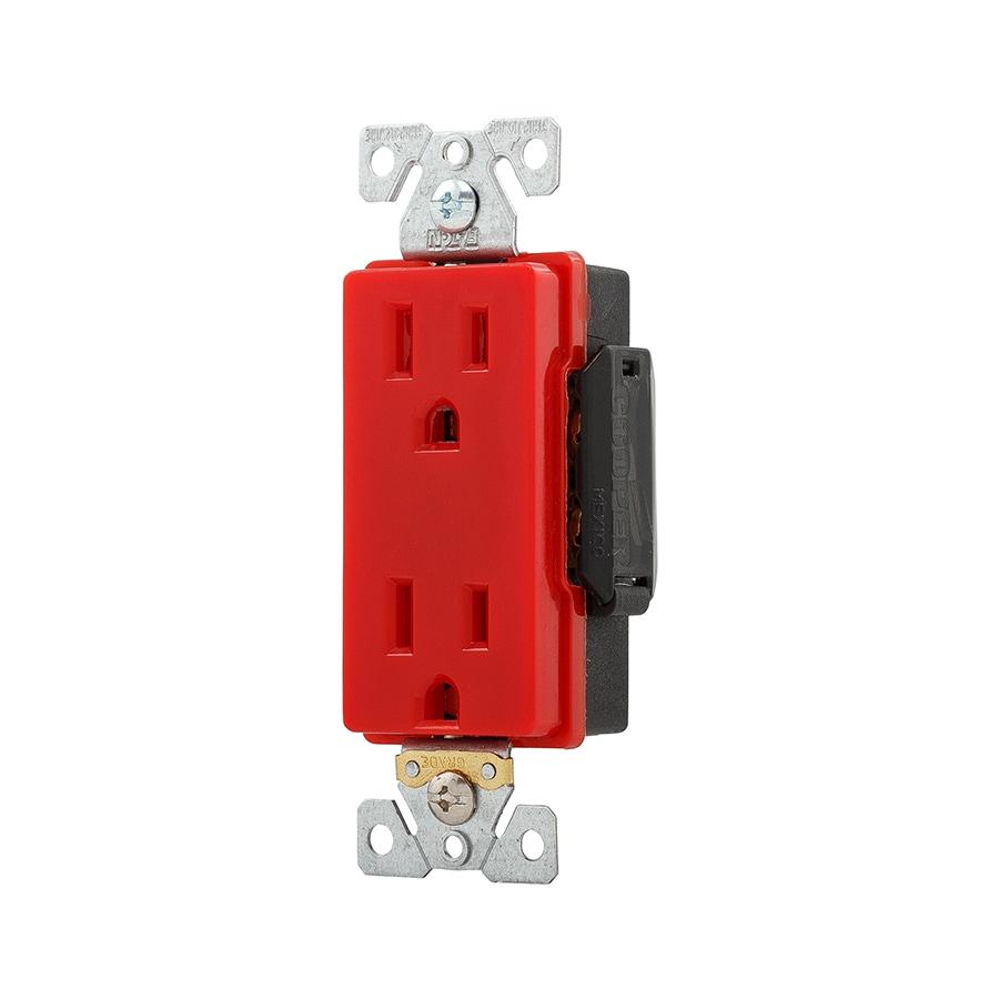 Eaton 15-Amp 125-Volt Red Duplex