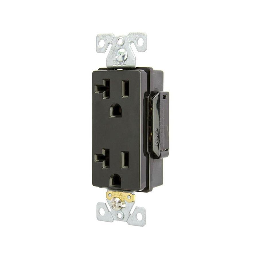 Eaton 20-Amp 125-Volt Black Duplex Electrical Outlet