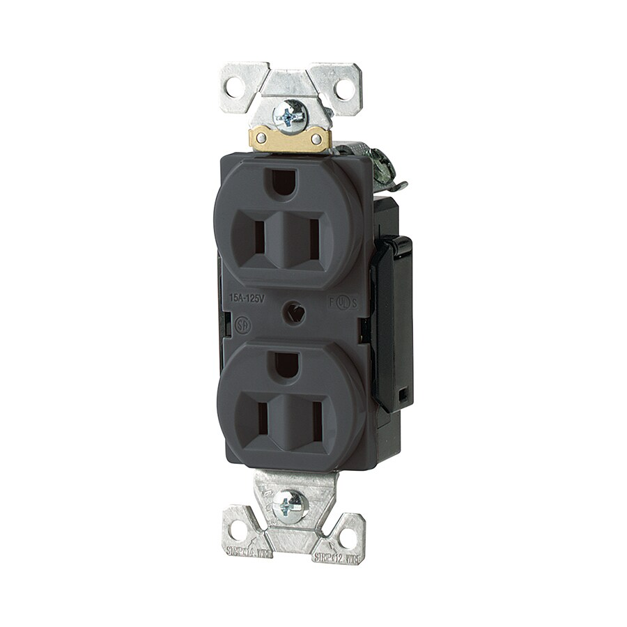 Eaton 15-Amp 125-Volt Black Duplex