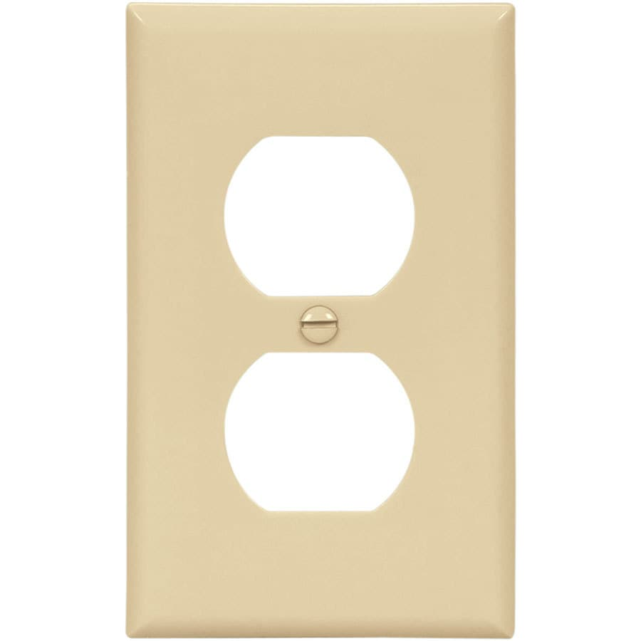 Eaton 10-Pack 1-Gang Ivory Single Duplex Wall Plates