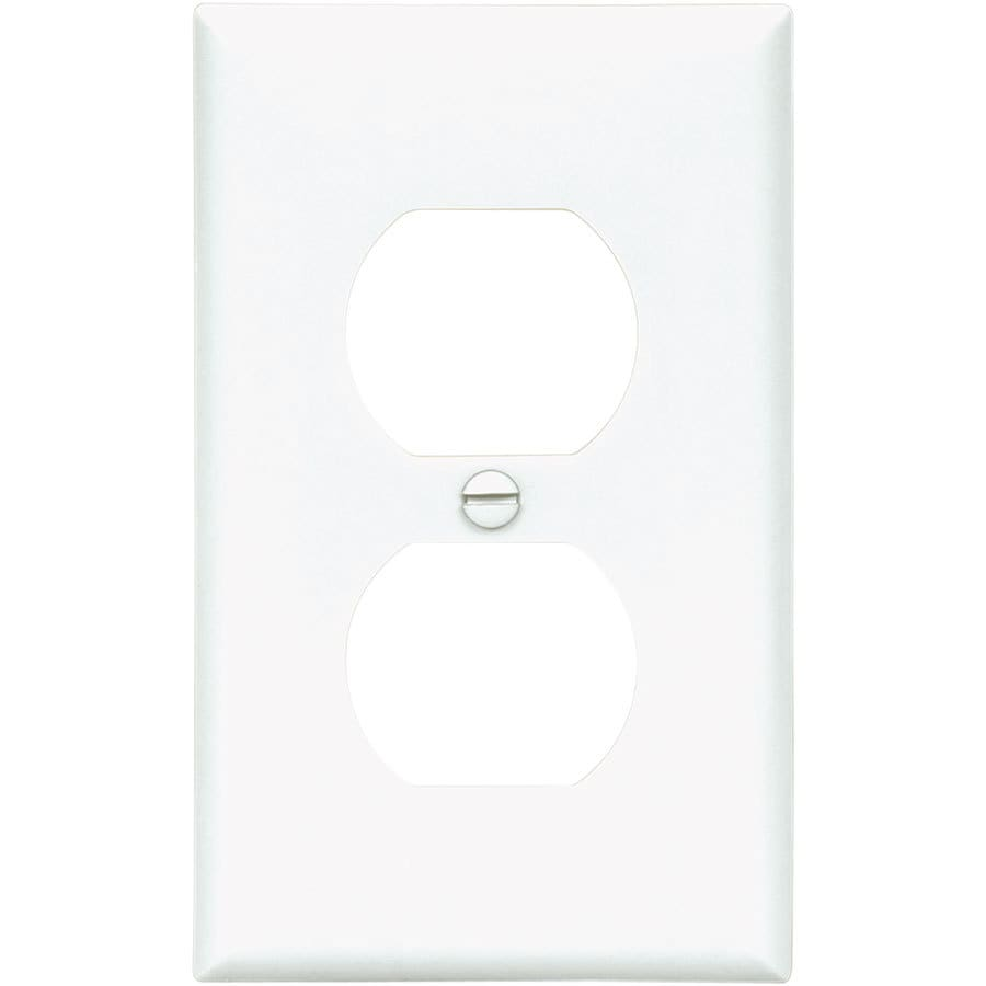 Shop Eaton 10 Pack 1 Gang White Single Duplex Wall Plates At Switch Outlet Wiring As Well Electrical Light