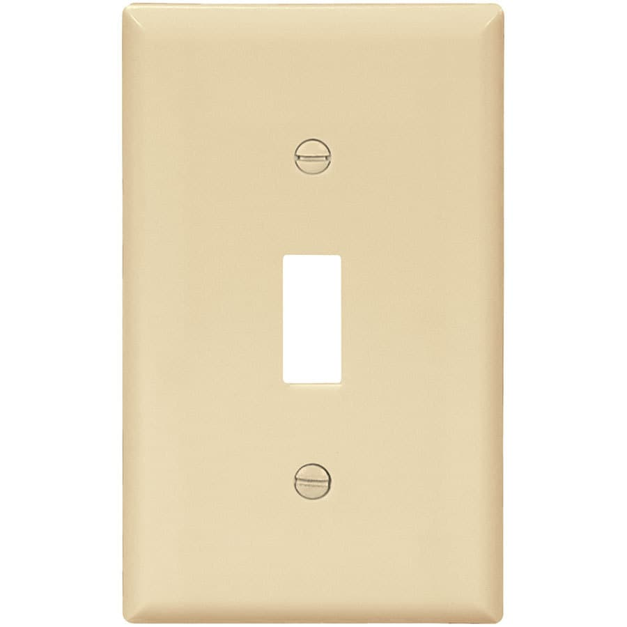 Eaton 10-Pack 1-Gang Ivory Single Toggle Wall Plates