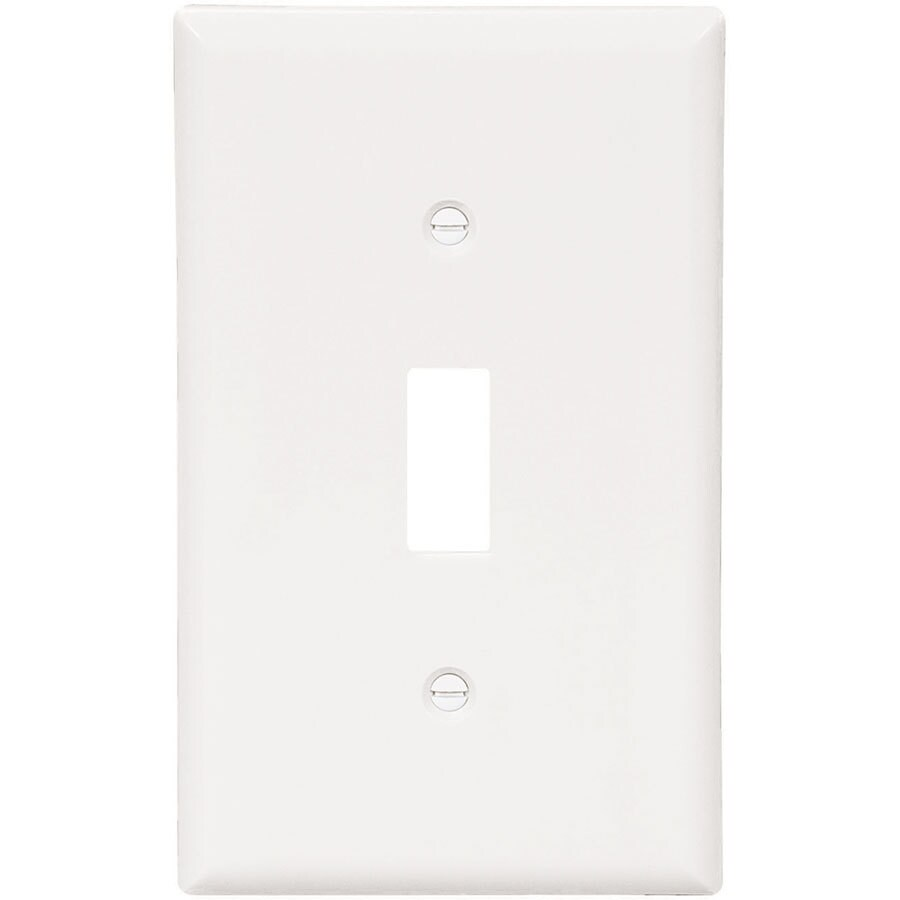 Eaton 10-Pack 1-Gang White Single Toggle Wall Plates