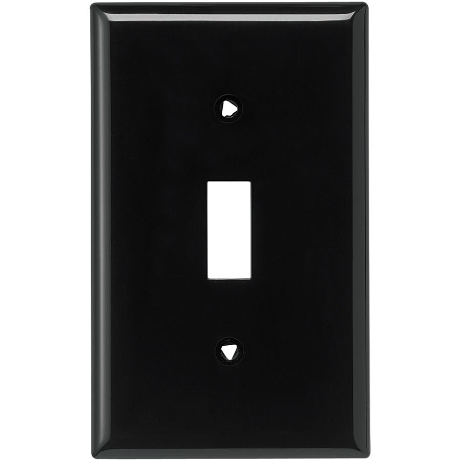 Eaton 1-Gang Black Single Toggle Wall Plate