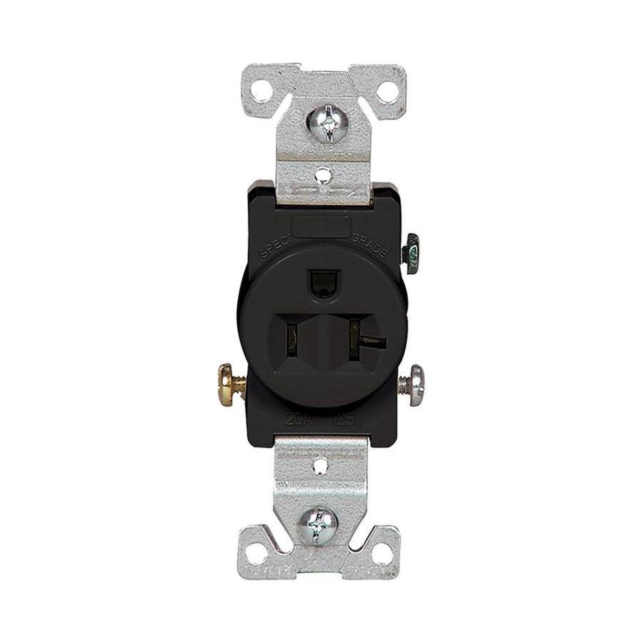 Eaton 20-Amp 125-Volt Black Electrical Outlet