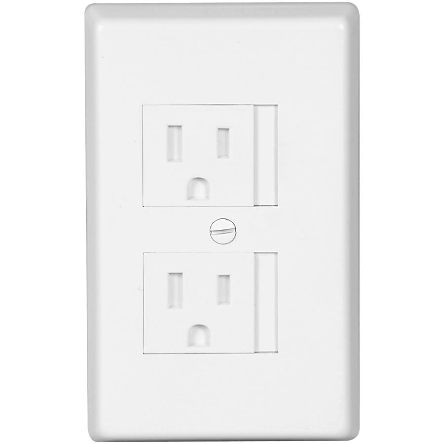 Cooper Wiring Devices 1-Gang White Round Wall Plate