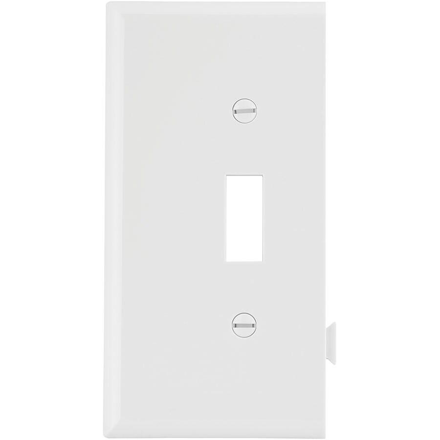 Eaton 1-Gang White Toggle Wall Plate