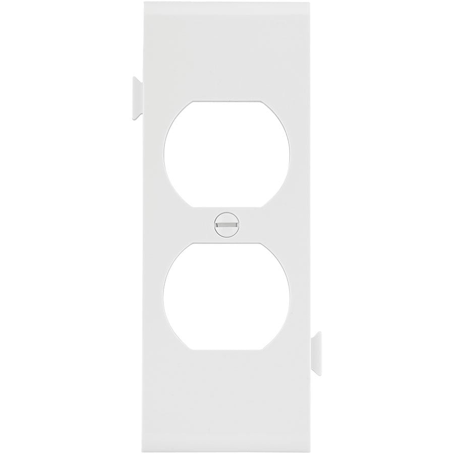 Eaton 1-Gang White Duplex Wall Plate