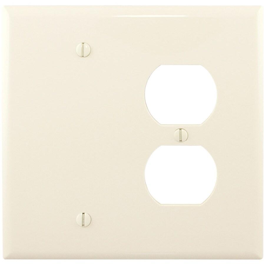 Eaton 2-Gang Light Almond Wall Plate