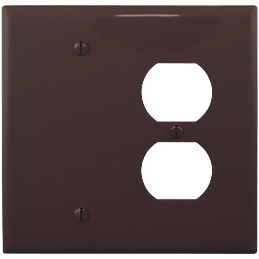 Eaton 2-Gang Brown Wall Plate