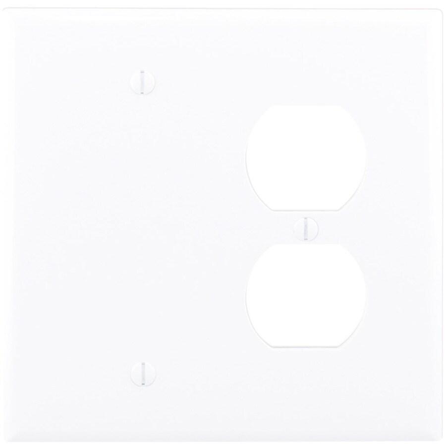 Eaton 2-Gang White Wall Plate