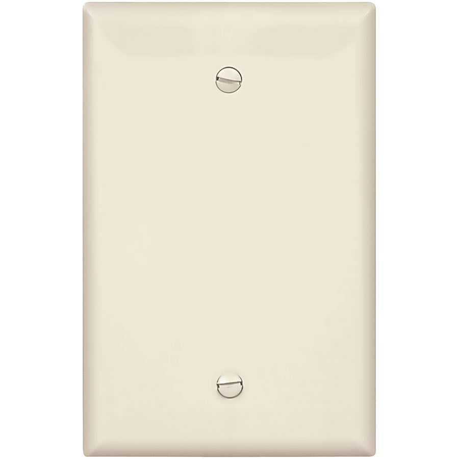 Eaton 1-Gang Light Almond Single Blank Wall Plate