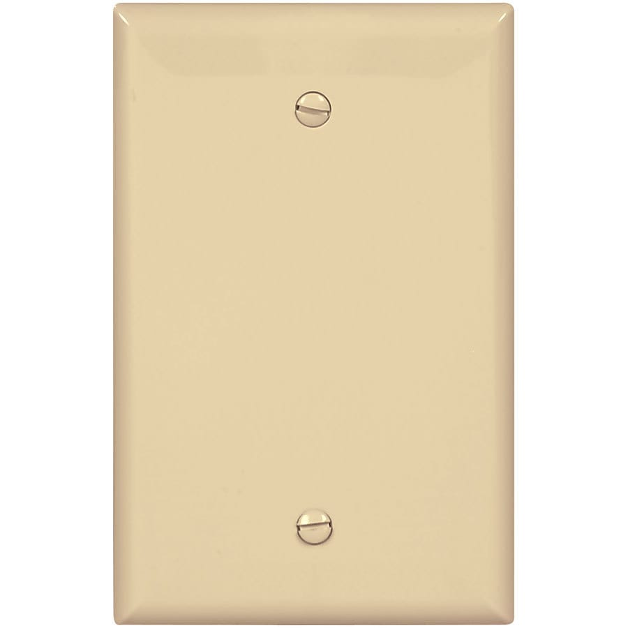 Eaton 1-Gang Ivory Single Blank Wall Plate