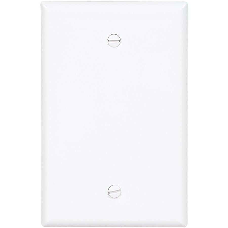 Eaton 1-Gang White Single Blank Wall Plate