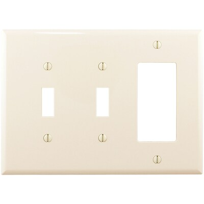 Eaton 3 Gang Light Almond Wall Plate At Lowes