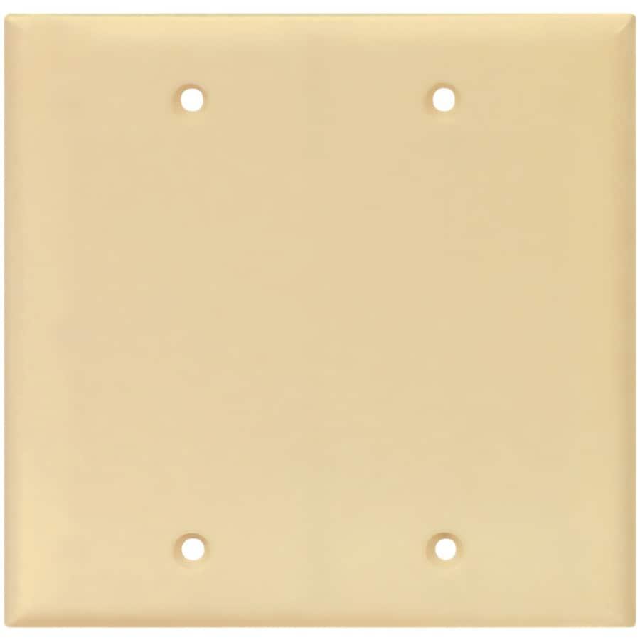 Eaton 2-Gang Ivory Blank Wall Plate
