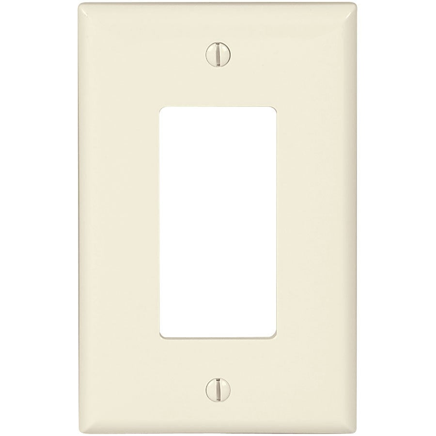 Eaton 1-Gang Light Almond Single Decorator Wall Plate