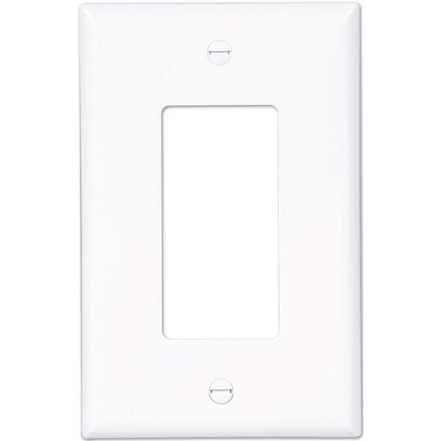 Eaton 1-Gang White Single Decorator Wall Plate