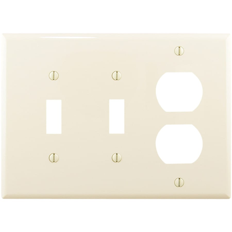 Eaton 3-Gang Light Almond Wall Plate