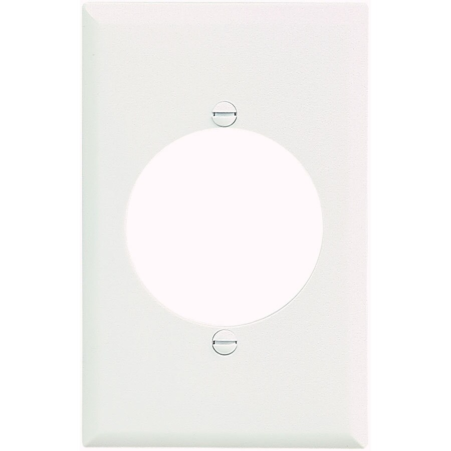 Eaton 1-Gang White Single Round Wall Plate