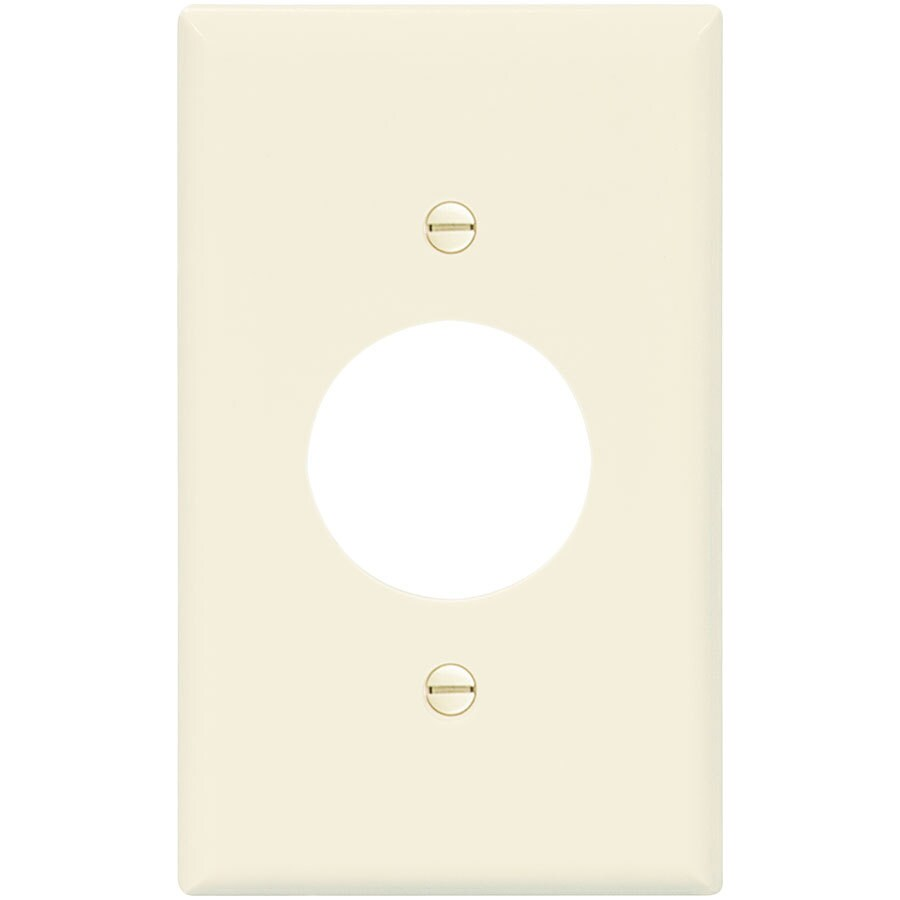 Eaton 1-Gang Light Almond Single Round Wall Plate