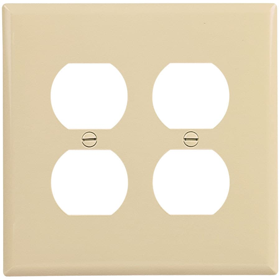 Eaton 2-Gang Ivory Double Duplex Wall Plate