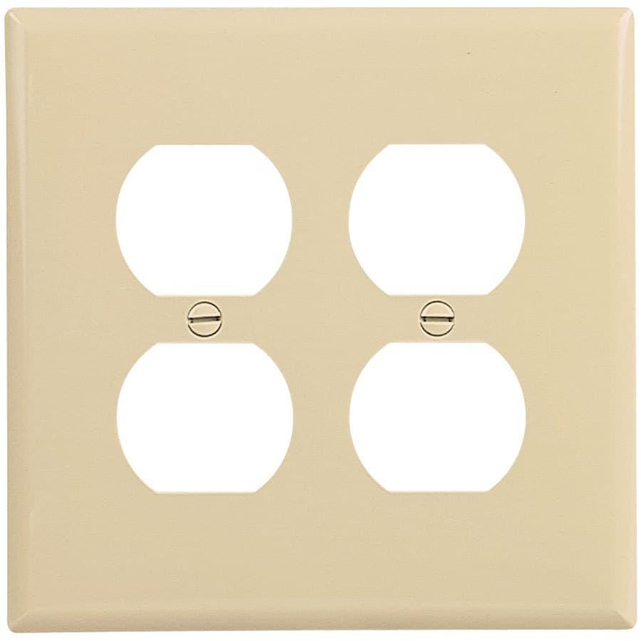 Eaton 2-Gang Ivory Double Duplex Wall Plate