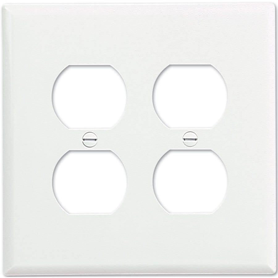 Eaton 2-Gang White Double Duplex Wall Plate