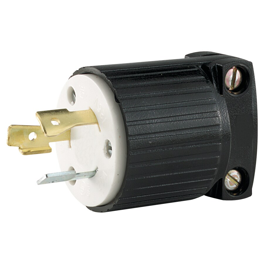 Shop Cooper Wiring Devices 15-Amp 125-Volt Black 2-Wire Plug at ...