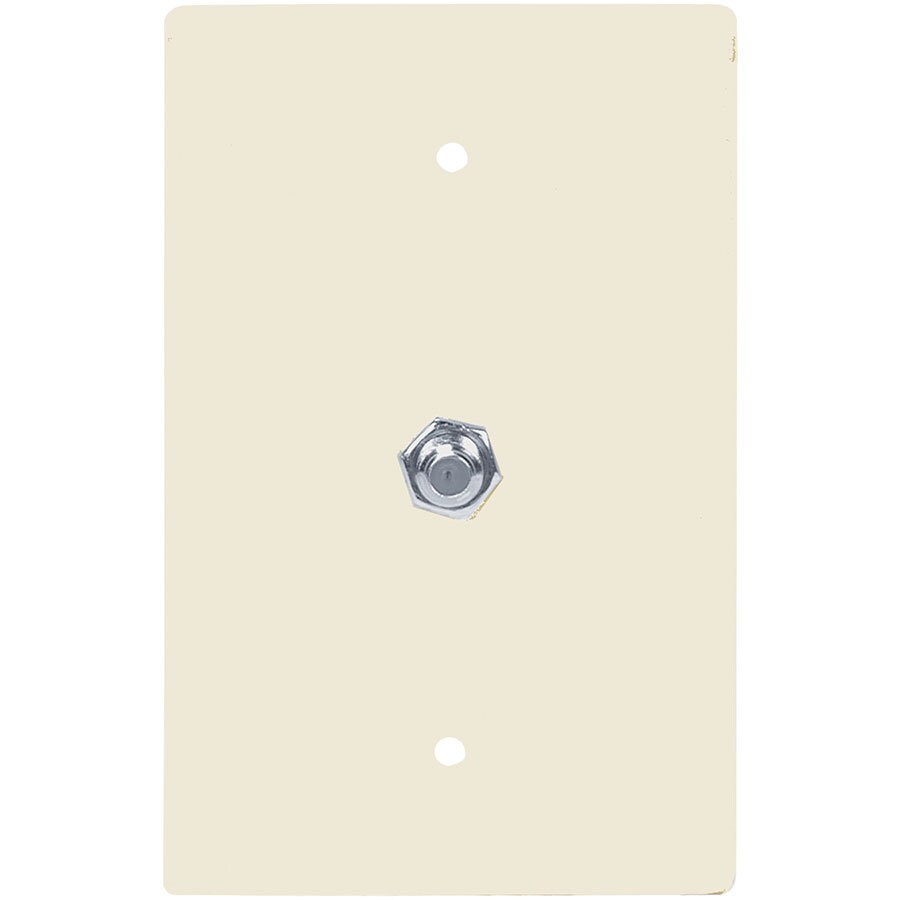 Eaton 1-Gang Light Almond Single Coaxial Wall Plate Adapter