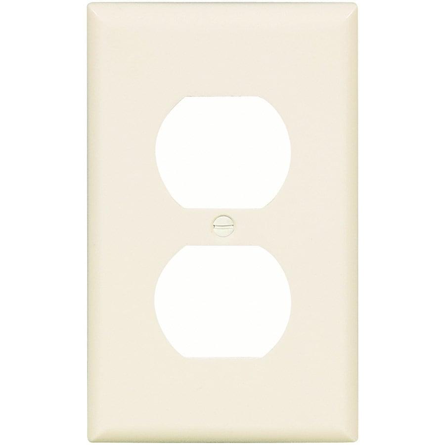 Eaton 1-Gang Light Almond Single Duplex Wall Plate