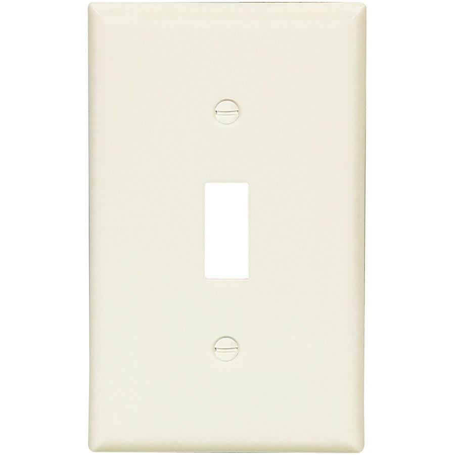 Eaton 1-Gang Light Almond Single Toggle Wall Plate
