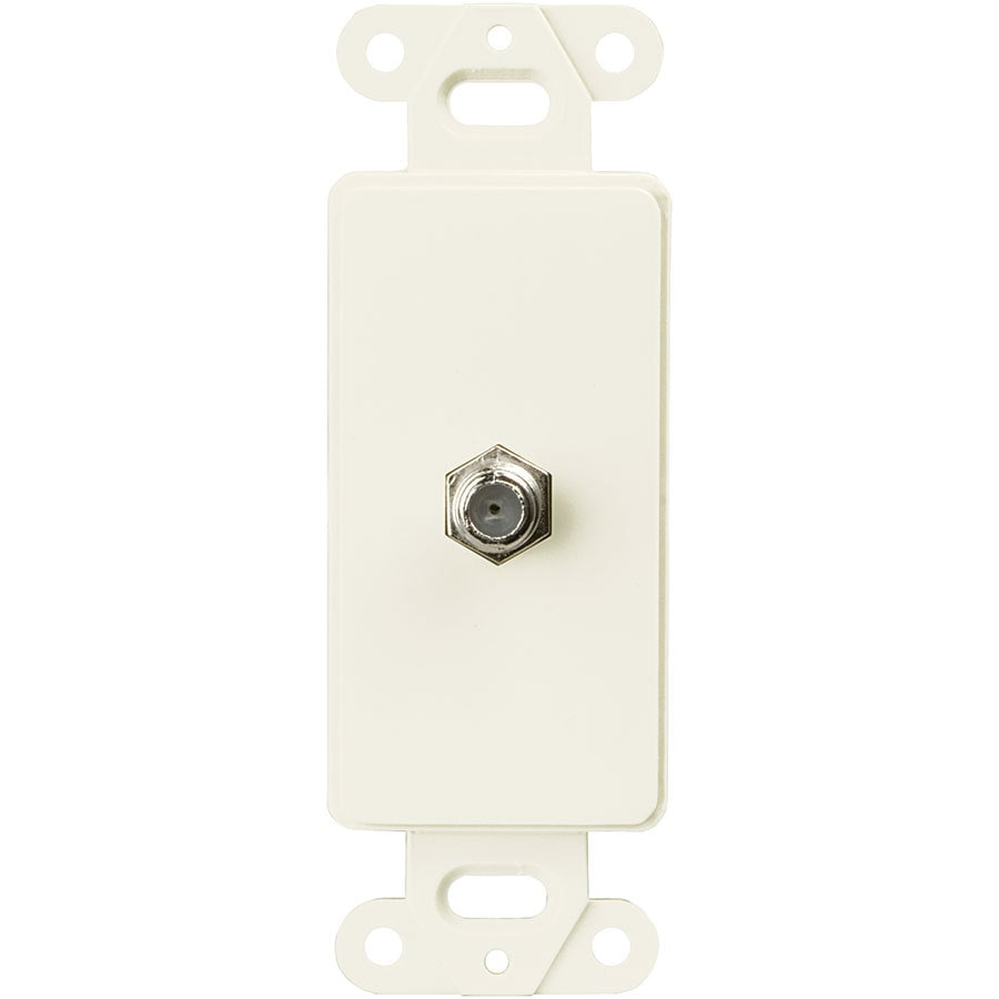 Eaton 1-Gang Light Almond Single Decorator Coaxial Wall Plate Insert Adapter
