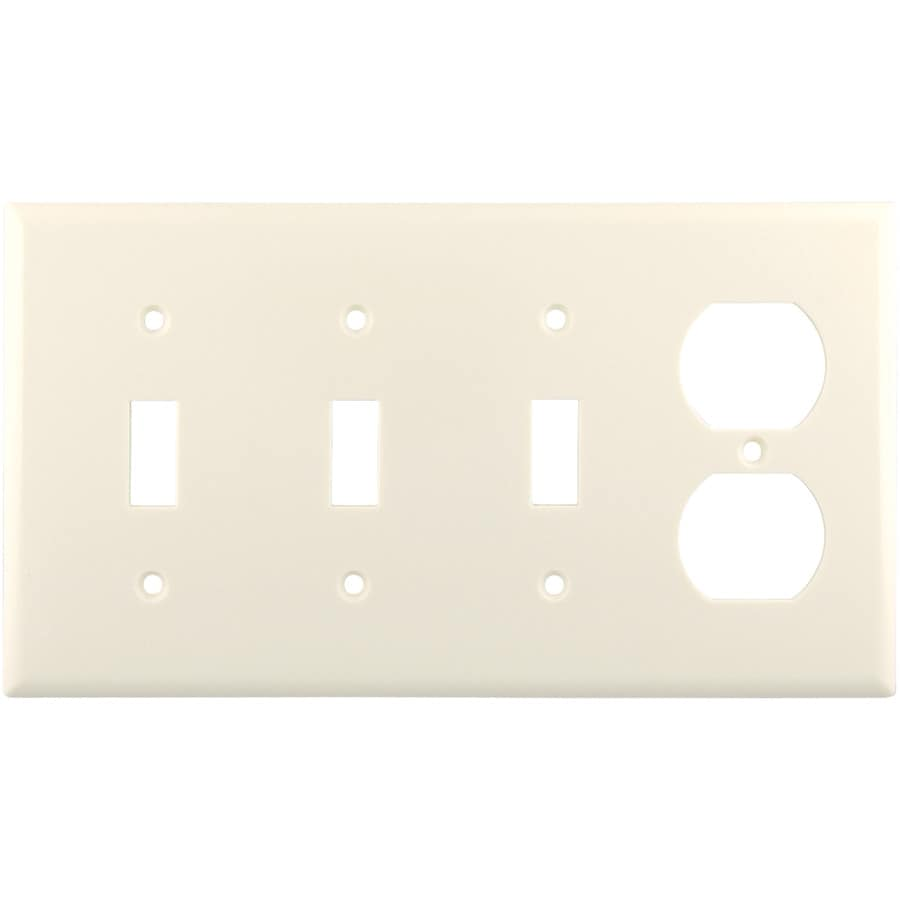 Eaton 4-Gang Light Almond Wall Plate