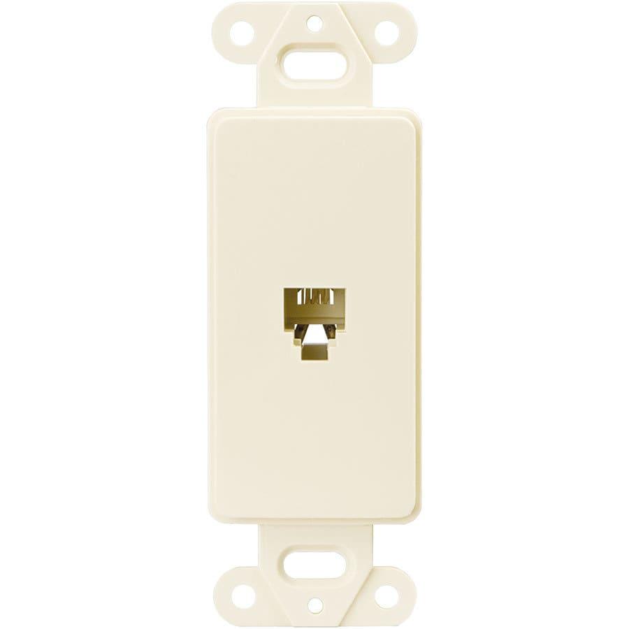 Eaton Plastic F-Type Coax/Telephone Wall Jack
