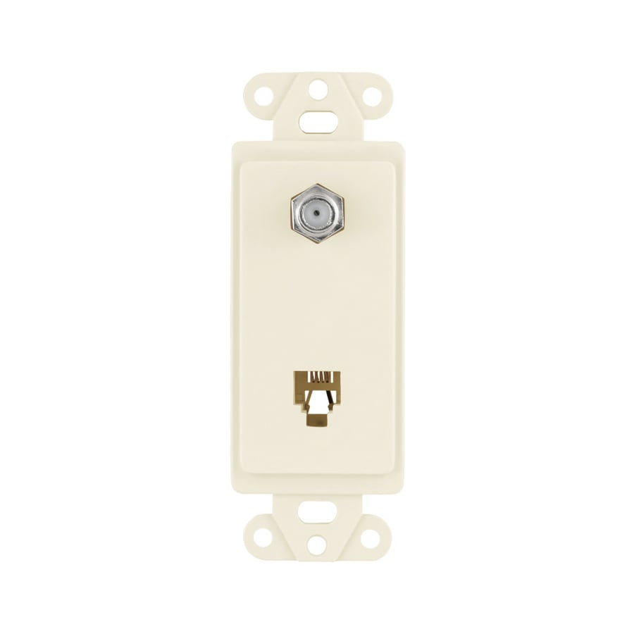 Cooper Wiring Devices 1-Gang Light Almond Wall Plate