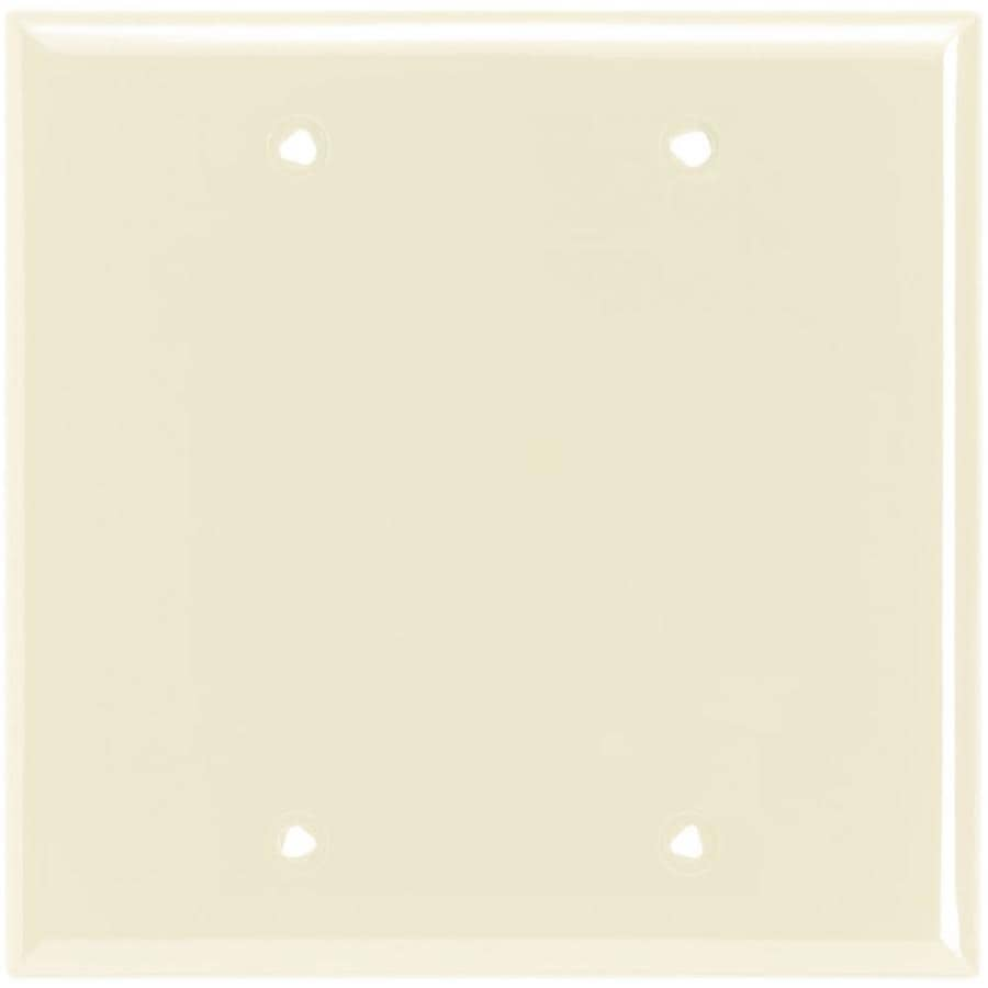 Eaton 2-Gang Light Almond Blank Wall Plate