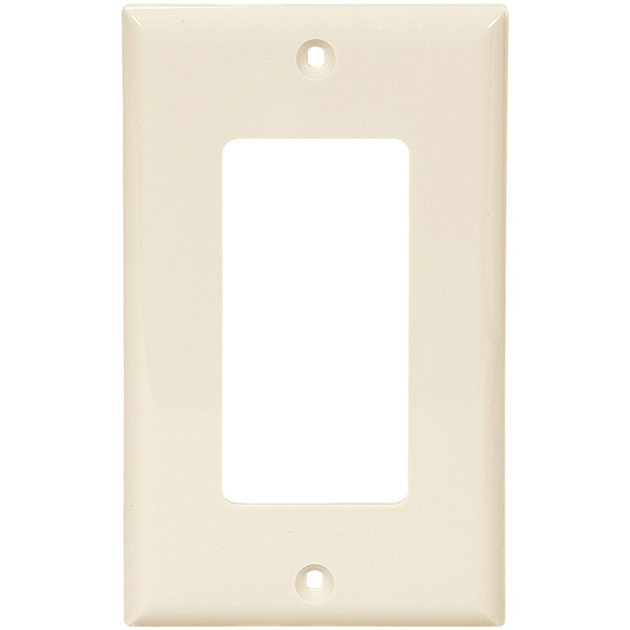 Eaton 1-Gang Light Almond Decorator Wall Plate