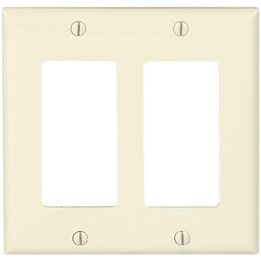 Eaton 2-Gang Light Almond Decorator Wall Plate