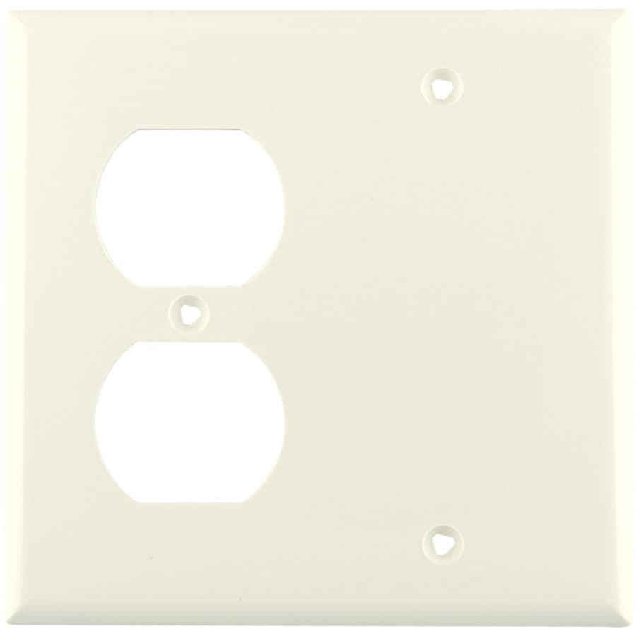 Eaton 2-Gang Light Almond Wall Plate