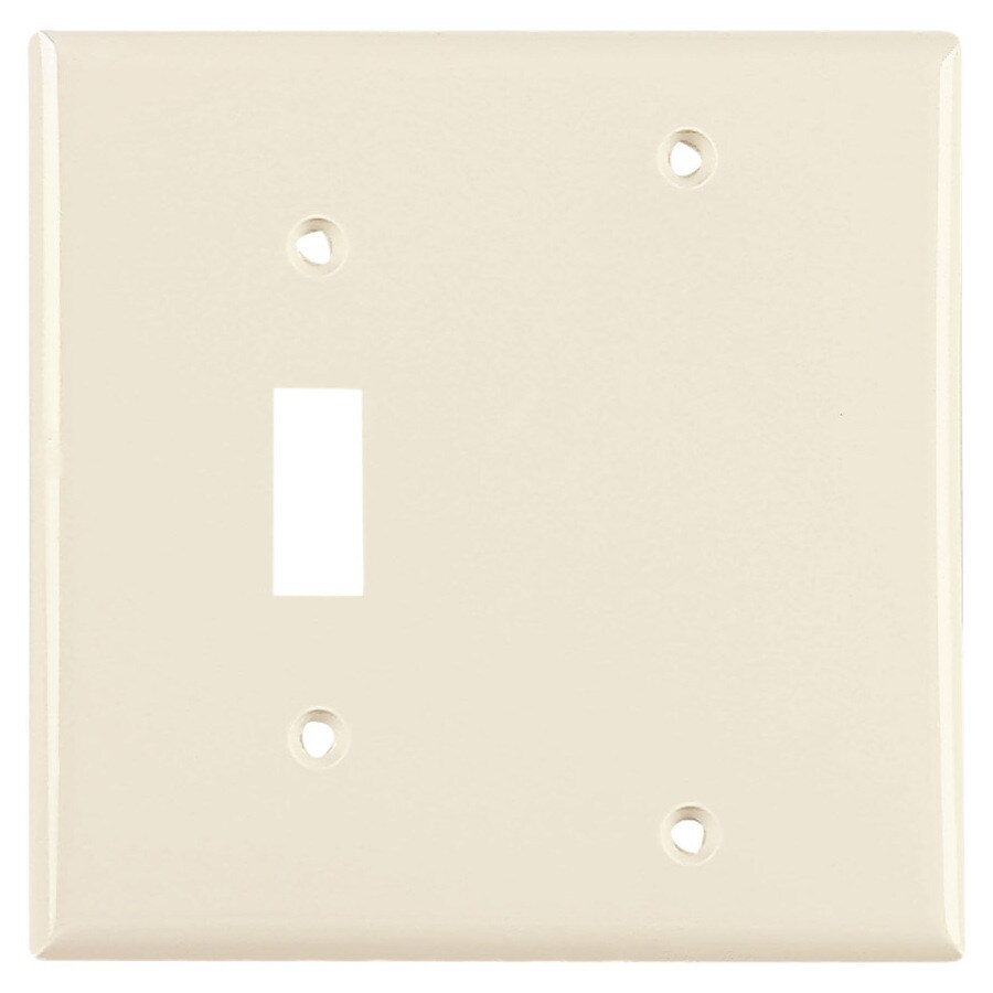 Cooper Wiring Devices 2-Gang Light Almond Wall Plate