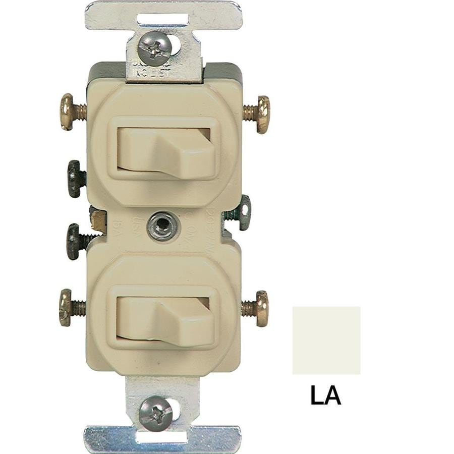 Eaton Light Almond Light Switch