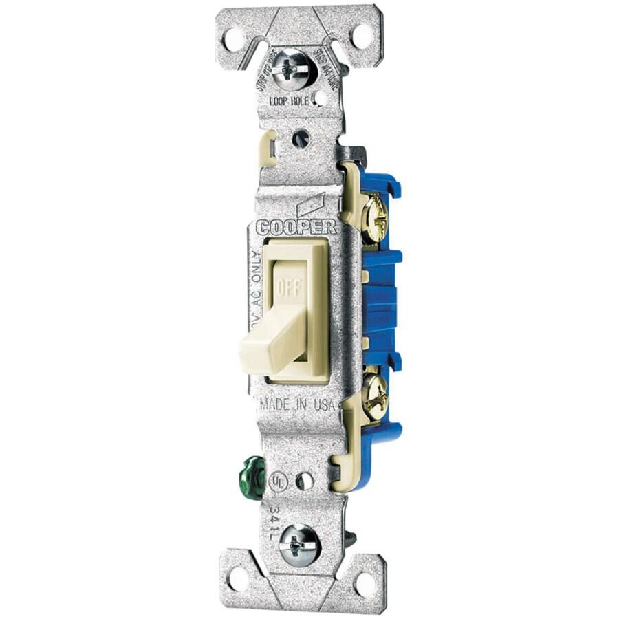 Eaton 10-Pack 15-Amp Single Pole Light Almond Toggle Indoor Light Switch