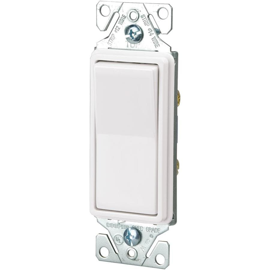 Shop Eaton 0-amp Single Pole White Momentary Indoor Light Switch at ...