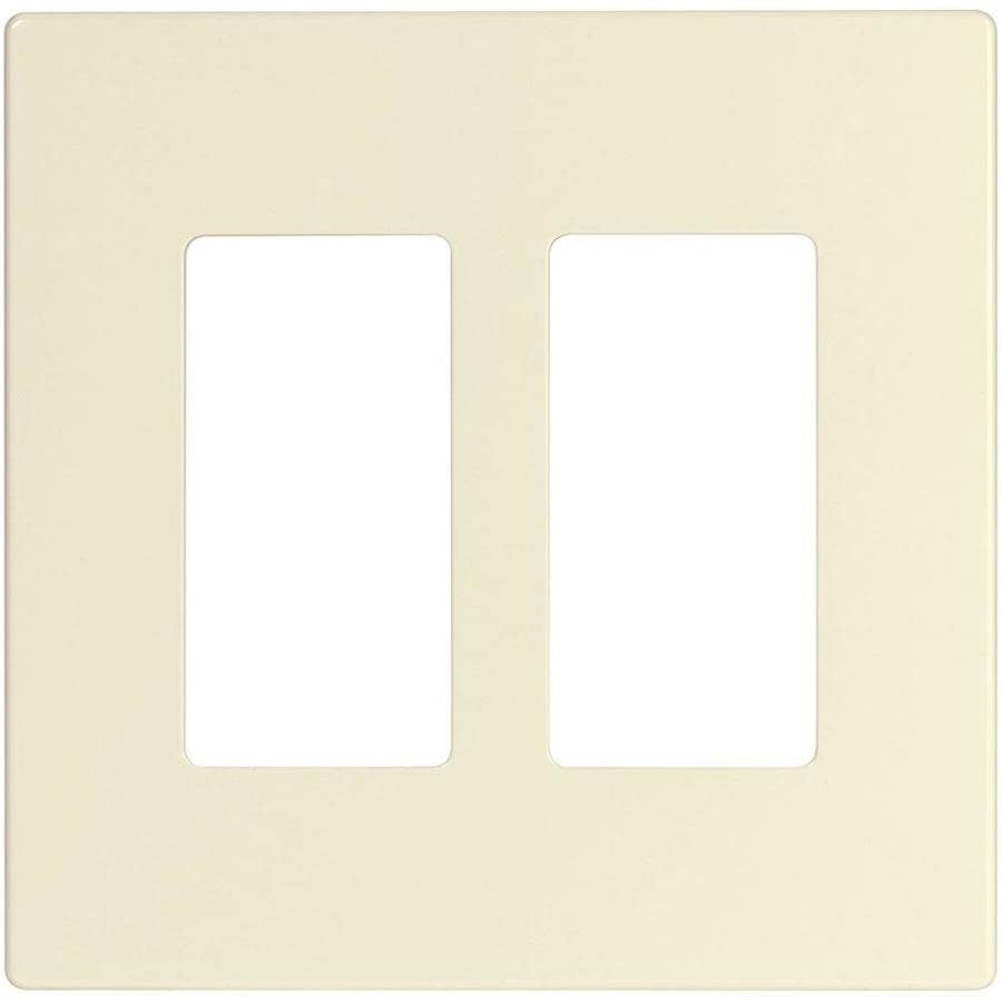 Eaton 2-Gang Light Almond Double Decorator Wall Plate