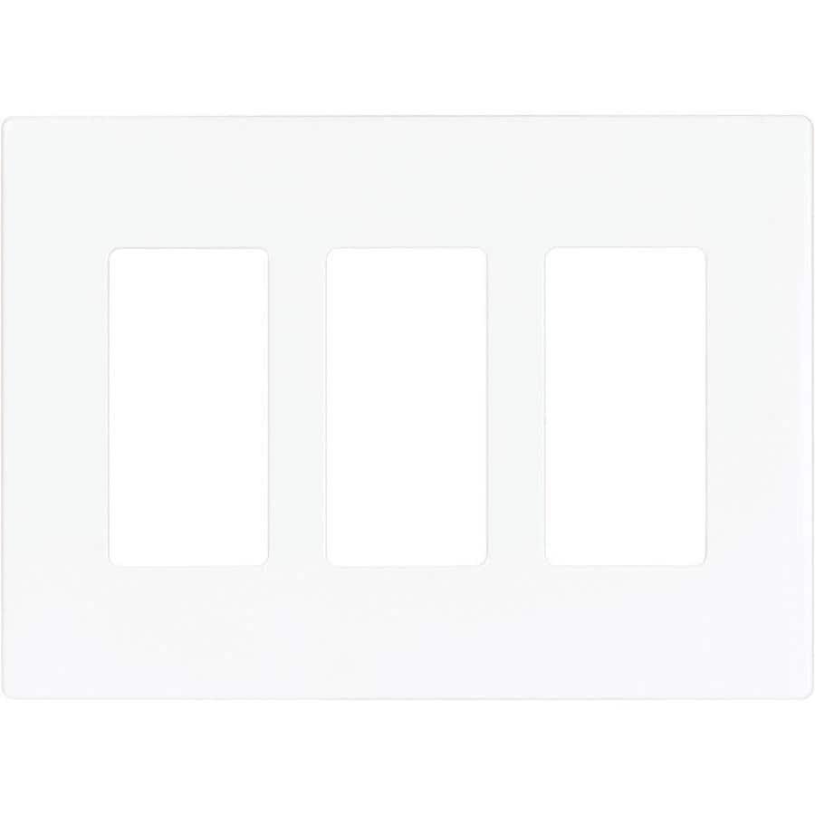 Eaton 3-Gang White Triple Decorator Wall Plate